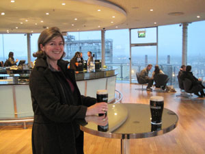 A perfect pint in the Gravity Bar