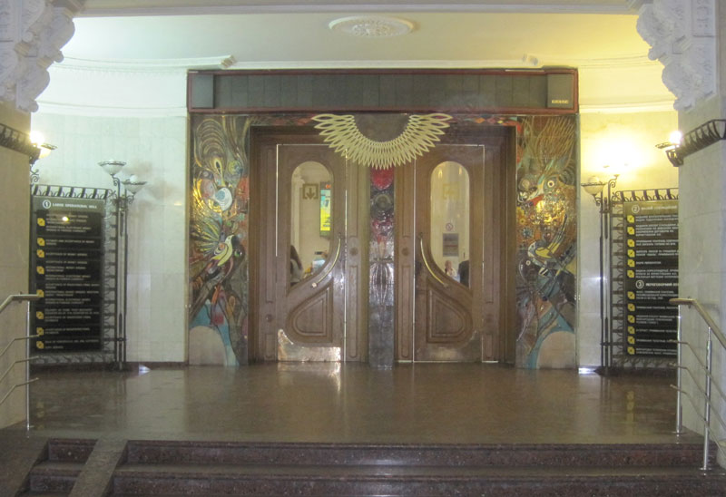 I nearly got arrested taking a picture of these beautiful Art Nouveau doors in the main Post Office …