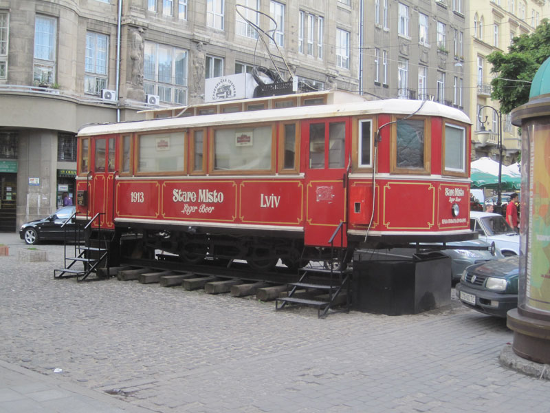 Old style tram, now reinvented as a restaurant