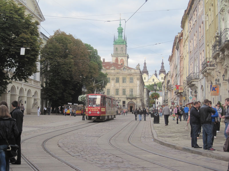 Trams and cobbles may be pretty to look at, but are not a biker's best friends in the wet