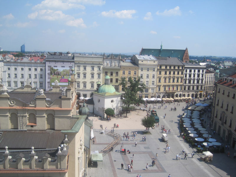 View from the old Town Hall Tower, Krakow