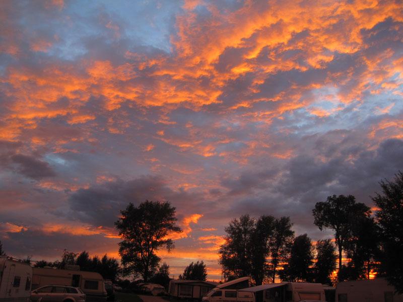 Sunset over Drei Gleichen campsite