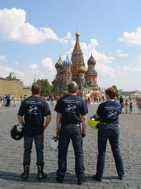 Striking a pose in front of St. Basil's Cathedral, Red Square